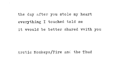 arctic monkeys fire and the thud